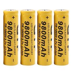 4 pçs/lote alta qualidade 9800 mah 3.7 v 18650 baterias de iões lítio bateria recarregável para lanterna tocha frete grátis