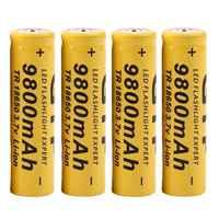 4 unids/lote de alta calidad 9800mAh 3,7 V 18650 baterías de iones de litio batería recargable para linterna antorcha envío gratis
