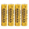 4pcs/lot High Quality 9800mAh 3.7V 18650 Lithium ion batteries Rechargeable Battery For Flashlight Torch Free shipping