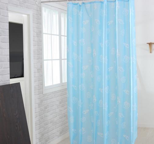 Thicken Waterproof Mildewproof Blue Starfish Polyester Shower Curtain Hotel  Bathroom Shower Curtain(China (Mainland
