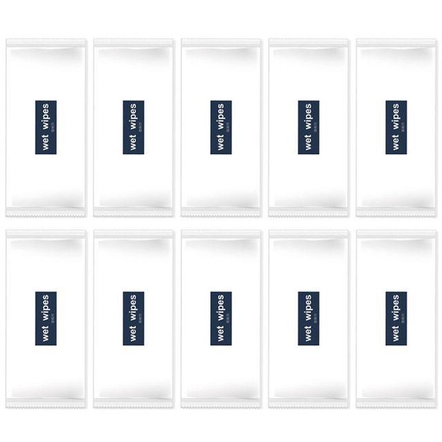 20 piezas unids de toallitas húmedas desechables no tejidas de papel envuelto individualmente mano portátil nuevo