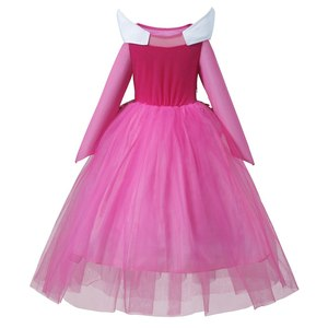 Image 3 - PaMaBa Cô Gái Aurora Tưởng Tượng Công Chúa Tutu Dresses Hồng/Màu Xanh Dài Tay Áo Aurora Cosplay Trang Phục Trang Phục Halloween Quần Áo