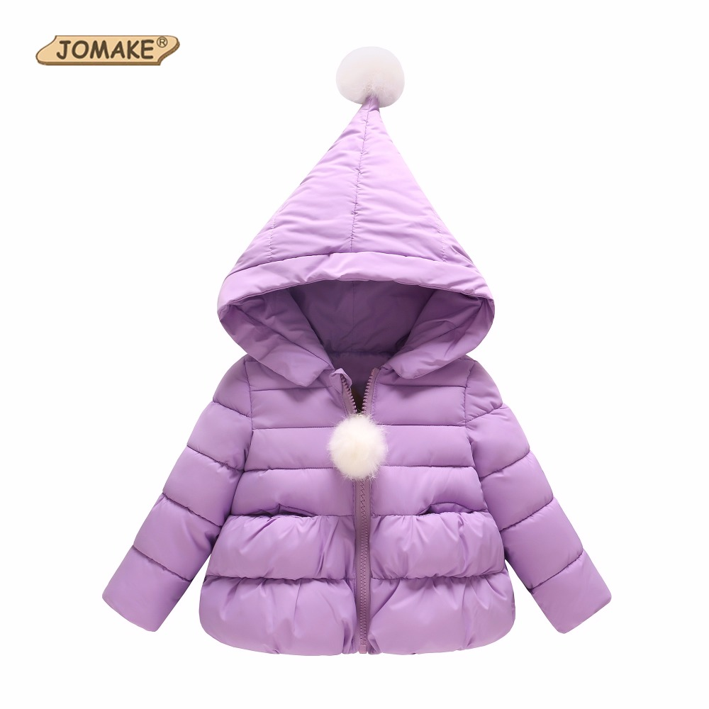 JOMAKE Girls Winter Coat Cute Hooded Warm Parkas Outerwear&Coats Brand Baby Girl Clothes Winter Jackets Girls Children Clothing children winter coats jacket baby boys warm outerwear thickening outdoors kids snow proof coat parkas cotton padded clothes