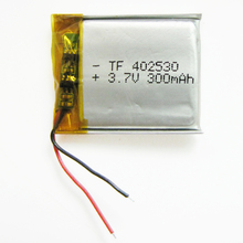 3.7V 300mAh Lithium Polymer Li-Po li ion Rechargeable Battery  402530 For Mp3 MP4 GPS stereo Bluetooth little point reading pen