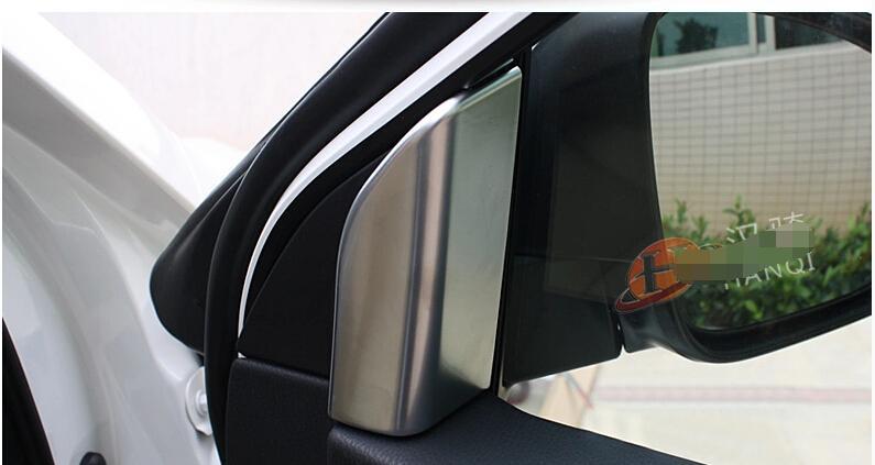ABS! Matt Inner Center Pillars A Cover Trims 2 pcs For Toyota Highlander 2015