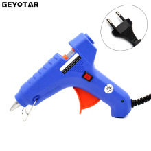40w Eu Plug Hot Melt Glue Gun With Free 1pc 11mm Stick Heat Temperature Tool Industrial Mini Guns Thermo Gluegun Applicator
