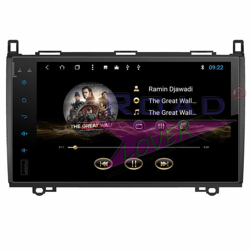 Puente Android 8,1 coche Multimedia reproductor de vídeo para Benz B200 2009 estéreo navegación GPS Magnitol doble Din Autoradio NO DVD