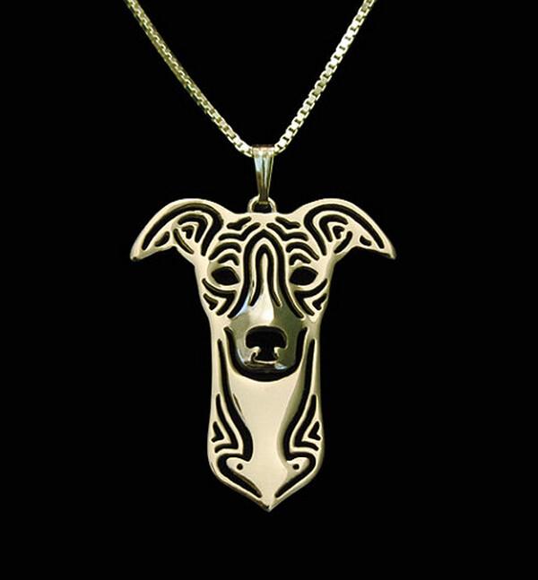 Ожерелье для собак whippet модные украшения с героями мультфильмов