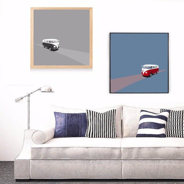 Abstrakte VW Bulli Bus Leinwand Kunstdruck Malerei Poster ...