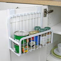 Household Japanese cabinets hanging basket kitchen condiment racks door cabinets free punching hanging basket household products