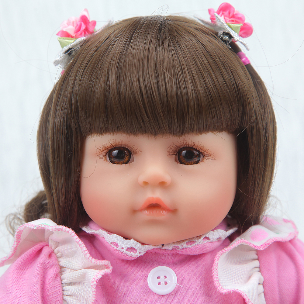 Forrsdor New 42cm cotton body Baby girl with cute newborn baby clothes limited Collection toys Silicone Reborn Baby dolls-in Dolls from Toys & Hobbies    3
