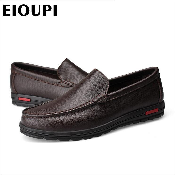 2 Couro Genuíno Design Sapato Moda Carteira 1 Casual Qualidade Dos Novo Sapatos Respirável Top Lh508 Barco Eioupi Real Homens De Negócios Itq0Rx