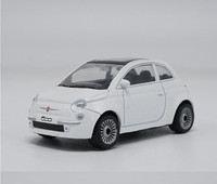 1 43 Scale Alloy Car Toy High Imitation Fiat 500 Sports Car Model Metal Casting Children