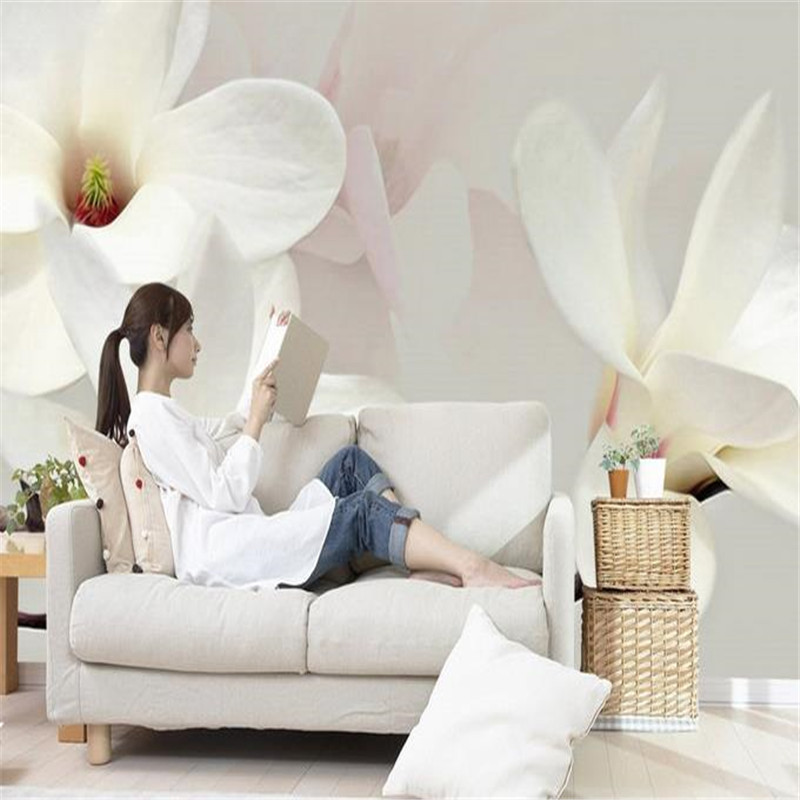 3D Nature Wallpapers for Living Room Decoration Custom Photo Wallpaper for Walls 3D Murals Flower Modern White Luxury Wall Paper shinehome skyline sea wave sunset seascape wallpaper rolls for 3d walls wallpapers for 3 d living rooms wall paper murals roll