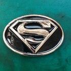 1Pcs 3D Superman Superhero Western Cowboy Belt Buckle For Men