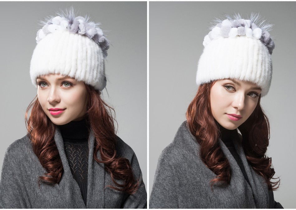 mink fur hats female winter PCM016 (10)