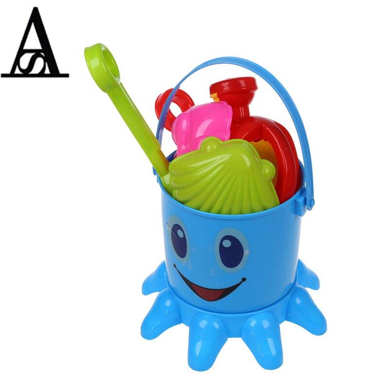 Aitesen beach toys sandbox cute color Octopus baby toy big sand tools Baby Bathtubs Toys 7 PCs set play in summer high quality
