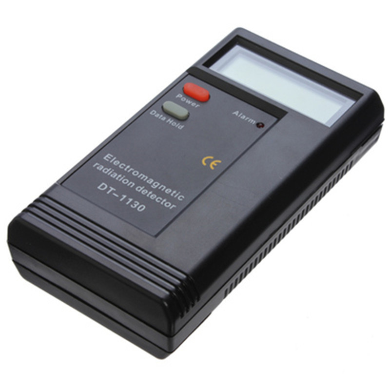 DT-1130 LCD Electronic Electromagnetic Radiation Detector Digital EMF Meter Frequency Tester For Computer Mobile Phones digital solar power meter radiation energy cell 1999 w m2 634 btu ft2 h range made in taiwan tester