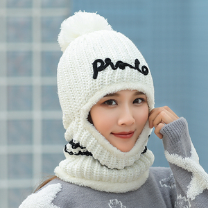 Image 3 - Hats Balaclava Winter Knitted Beanie Hat Neck Warmer Womens Hats Female Fashion Sequins Multi Functional Skullies Beanies Caps