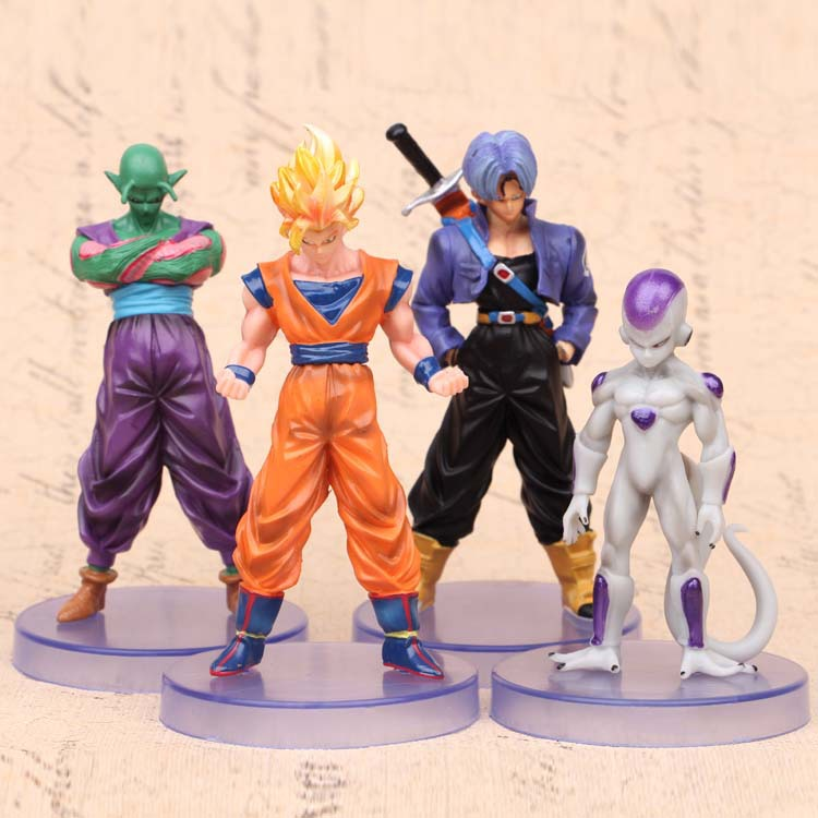 Dragon ball z figures 3th Goku figure chidren toy Christmas gift 4pcs/lot