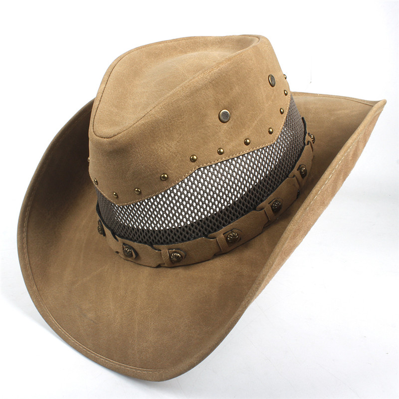 Western Leather Cowboy Hats for Women & Men 15