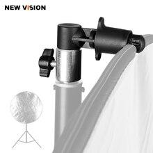 Suporte de suporte cabeça giratória refletor disco braço suporte/foto fotografia vídeo estúdio refletor disco titular clipe para a luz