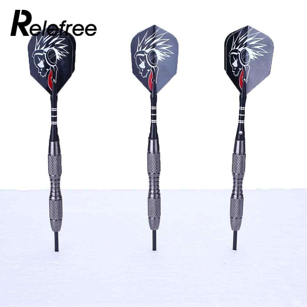 3Pcs Staal Tips Darts 22G Assen Nice Flight Eg Punt Wing Naald Vat Wolfraam Stalen Naald Tip Darts met Vluchten Sport
