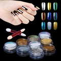 Chrome Powder Gold Silver Metallic Mirror Effect Chameleon 9 Colors Set Pigment Powder With Brush