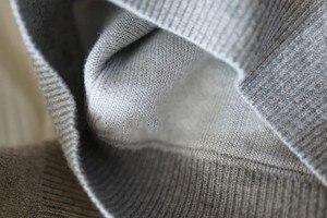 Image 3 - 春冬のカシミヤウールのセーターの女性セーターニットフード付き暖かい女性のグレードアップジャンパーとプルオーバーとポケット