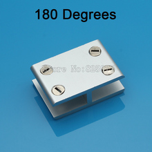 Wholesale DHL 100PCS 180 degrees 2 ways glass clamp,wood board clip hardware accessories applicable 10-12 mm JF1180
