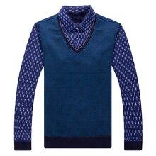 Hot men's shirt autumn winter 2017 new Mens Casual slim long sleeve male shirts blouse plus velvet thick warm men sweater