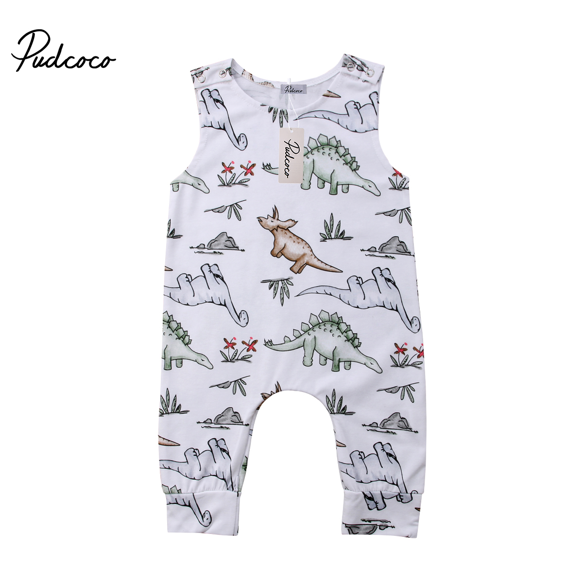 e828526f1f16 2018 Brand New Newborn Toddler Infant Baby Boy Girl Dinosaur Romper  Jumpsuit Playsuit Clothes Outfits Sleeveless Summer Sunsuit