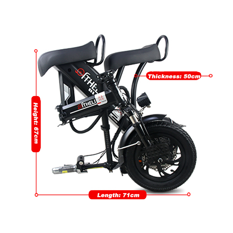 Flash Deal folding electric bike parent-child electric bicycle 12inch 2 people Folding portable ebike lithium battery electric bicycle 13