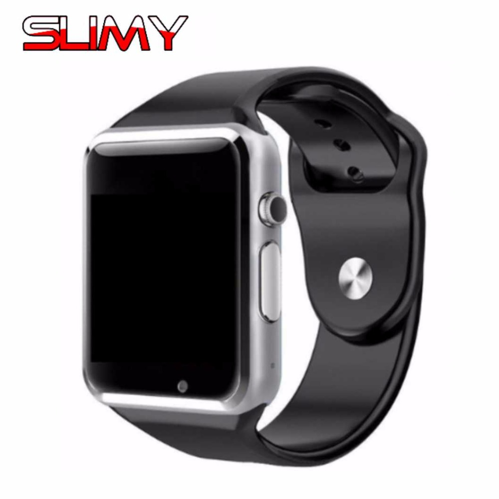 Slimy A1 Smart Watch Phone for Men Women Clock Sync Notifier Support TF Card for Apple