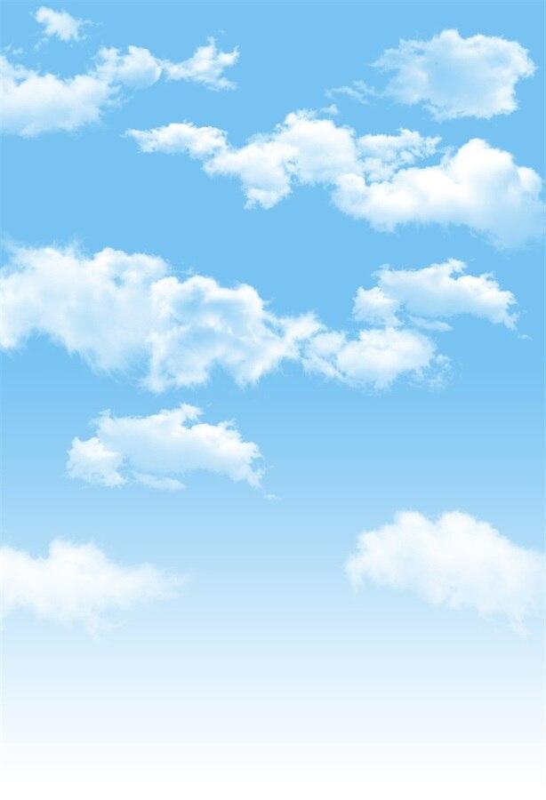 Laeacco Dreamy Cloudy Blue Sky Baby Newborn Photography Backgrounds Customized Photographic Backdrops For Photo Studio оригинальный подарок blue sky rim f9