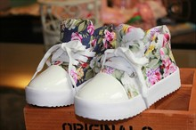 Fashion Children Shoes Side Part Flower Floral Individuality Baby Kids Canvas Shoes 2-7Year Boys Girls Sneaker 5pair/l