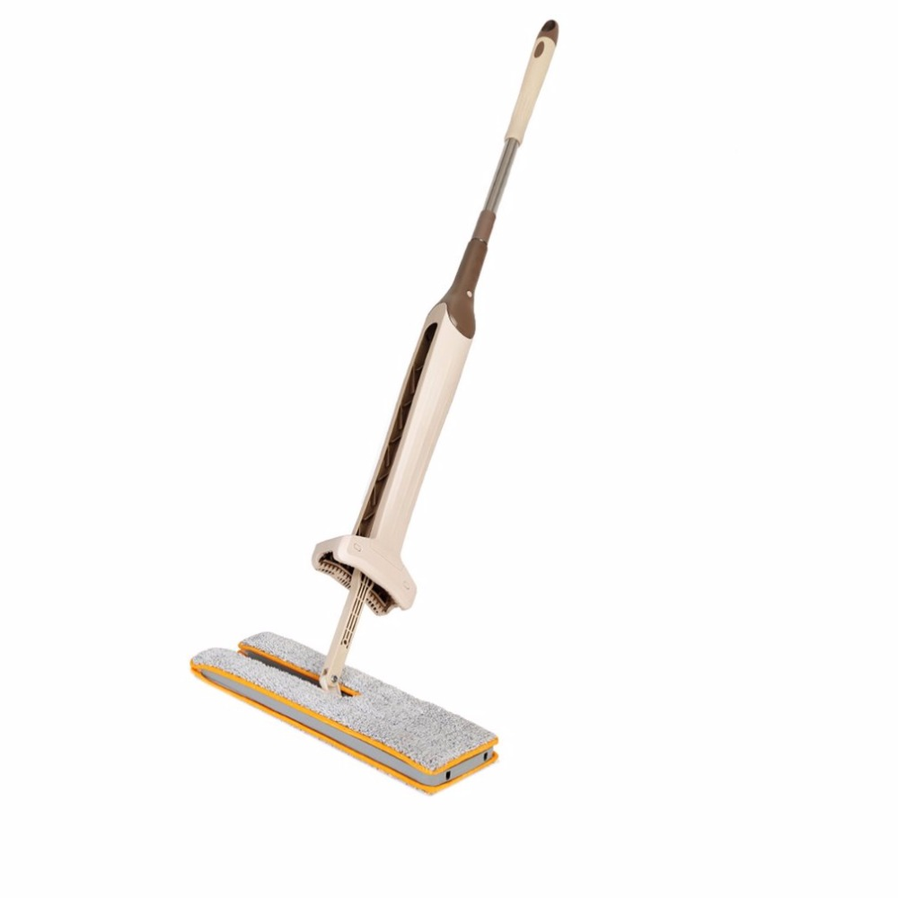 Self Wringing Double Sided Flat Mop Telescopic Comfortable Handle Mop Floor Cleaning Tool For Living Room