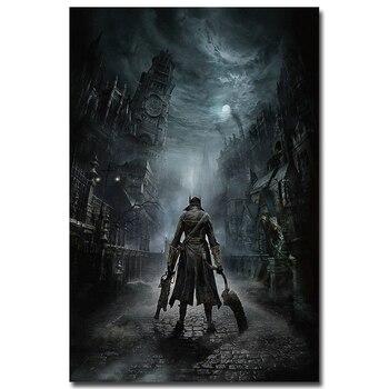 Плакат гобелен шелковый Bloodborne в ассортименте