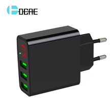 3 Port USB Charger 5V 3A EU Plug LED Display Mobile Phone Charger for iPhone 7 Portable Wall Adapter for Samsung mi Fast Charger