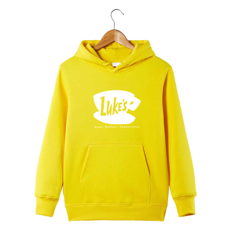 1d7d4a90e ... Luke's Diner Hoodie Gilmore Girls Lukes Hoodie Stars Hallow Lorelai  Rory Lane Hooded Pullover Sweatershirt
