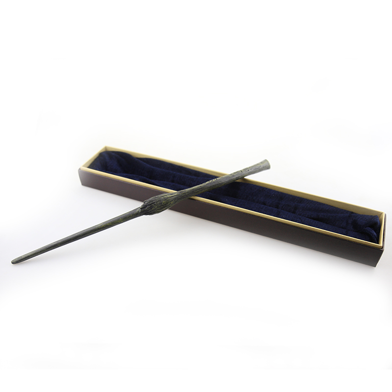 NEW Harri Potter Bellatrix Lestrange  Metal Core By Hand Painted Magic Wand Perfect Movie Theme Cos Props With Gift Box