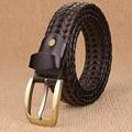Designer Luxury Brand Genuine Leather Men Belt Handmade Braided Women Waist Strap Vintage Braid Male Belt Ceinture Homme