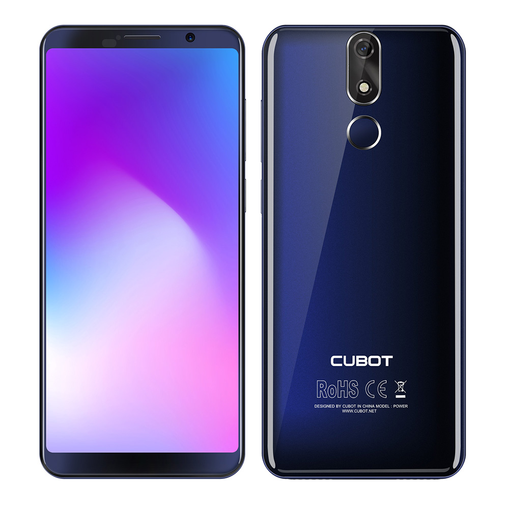 Original CUBOT POWER 5.99'' 18:9 FHD+ Android 8.1 Smartphone 6GB+128GB MTK6763T Octa Core 16MP Camera 4G Mobile Phone 6000mAh