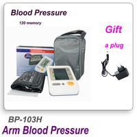 Portable Home Digital Arm Blood Pressure Monitor Heart Beat Meter With LCD Display And 4X30