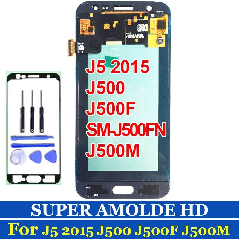 J500F LCD pour SAMSUNG GALAXY J5 2015 J500 écran LCD J500M SM-J500F écran tactile numériseur assemblée or noir blanc