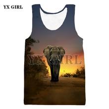 YX GIRL 2018 Summer Animal Tiger/Tyrannosaurus/Cat/Crane Tank Tops Print 3D Vest Original Style Hipster Casual Vest Dropship