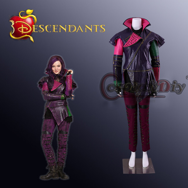 US $197 58 11% OFF|Cosplaydiy Descendants Maleficent Daughter Mal Cosplay  Costume Adult Women Costumes for Halloween Jackets +Pants+Gloves J10 -in