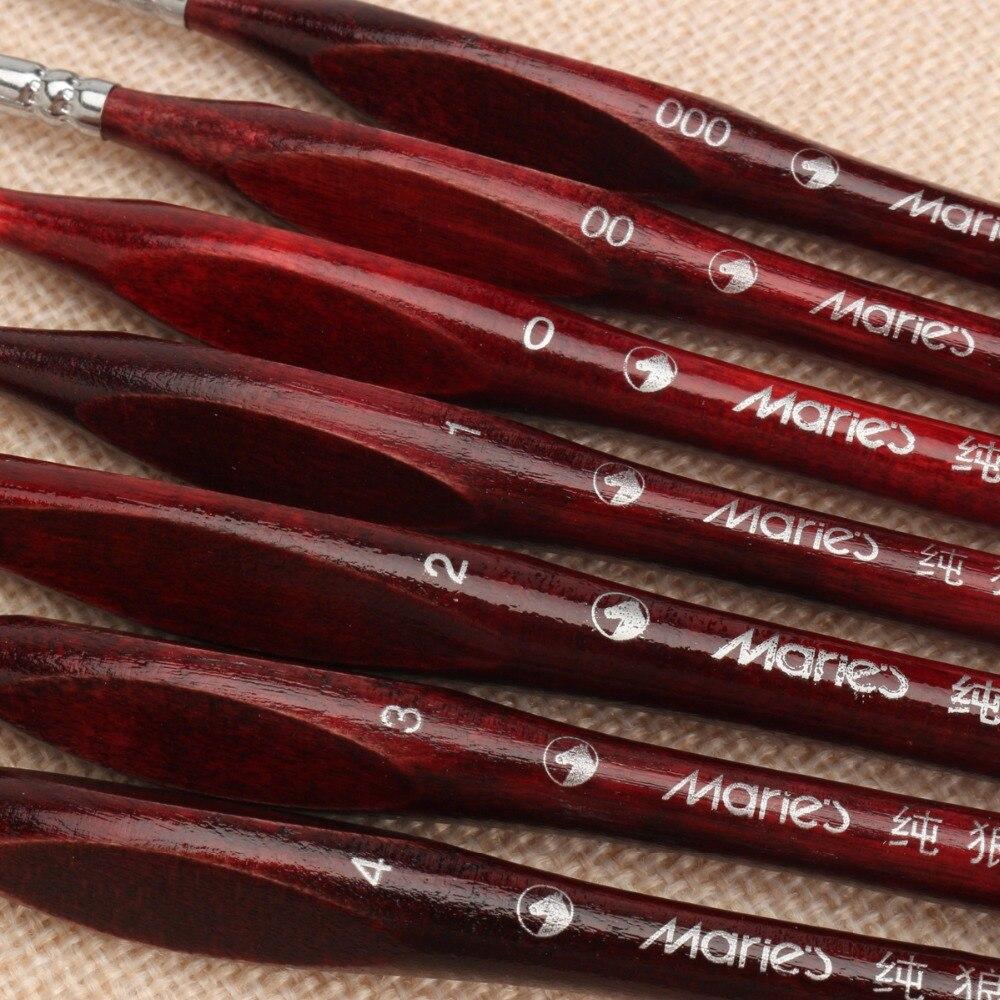 7 Pcs Professional Cabelo Sable Paint Brush