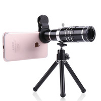 Universal 18X Zoom Mobile Phone Lens Telephoto Camera Lenses With Mini Tripod Telescope For IPhone 7