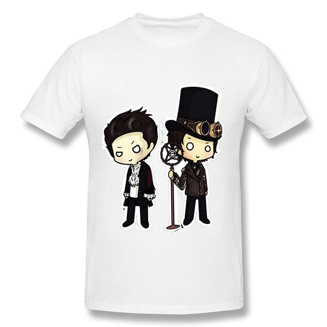 c6fd27eb High Quality Tops Hipster Tees Popular Crew Neck Short Sleeve Panic! At The Disco  Premium Tee Shirts For Men